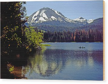 Lassen Reflections Wood Print