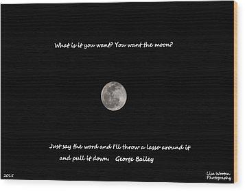 Lasso The Moon Wood Print