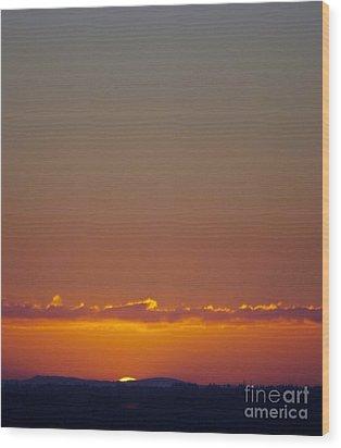 Last Glance Wood Print by Victor K