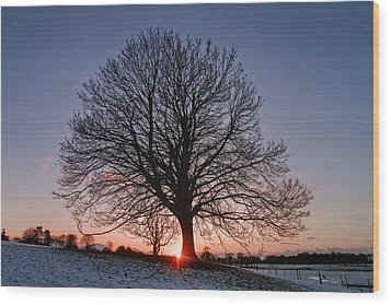 Last Glimpse Wood Print by Richard Outram