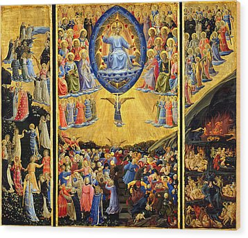 Last Judgment Winged Altar  Wood Print by Fra Angelico