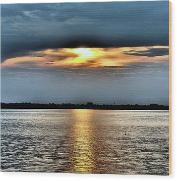 Wood Print featuring the photograph Last Light by Laura DAddona