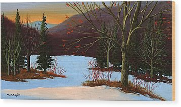 Last Light Of Day Wood Print by Frank Wilson