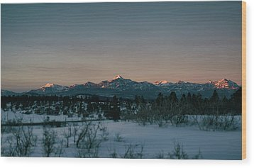 Last Light On Pagosa Peak Wood Print