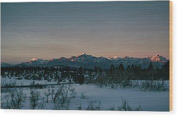 Last Light On Pagosa Peak Wood Print
