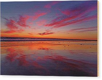 Last Light Topsail Beach Wood Print