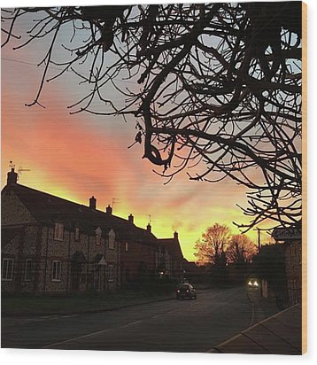 Last Night's Sunset From Our Cottage Wood Print by John Edwards