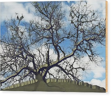Last One Standing Wood Print by Wendy J St Christopher