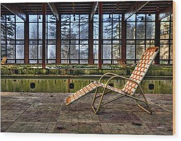Last Resort Wood Print by Evelina Kremsdorf