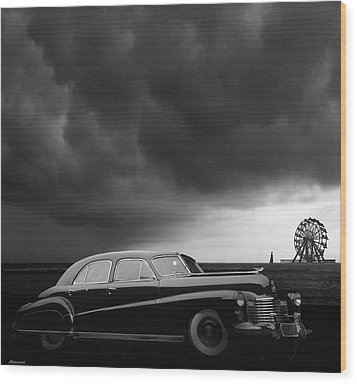 Roadside Attraction Wood Print by Larry Butterworth