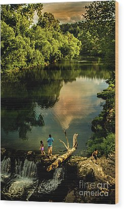 Last Seconds Of Summer Wood Print by Robert Frederick