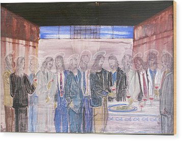 Last Supper 20th Century Wood Print by Marwan George Khoury