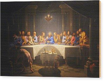 Last Supper Meeting Wood Print