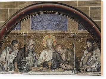 Last Supper Of Christ Wood Print by Adrian Hancu