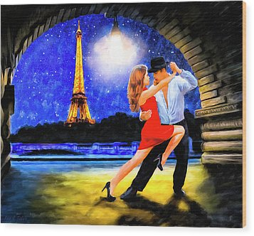 Wood Print featuring the mixed media Last Tango In Paris by Mark Tisdale