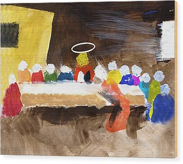 Lastsupper Wood Print