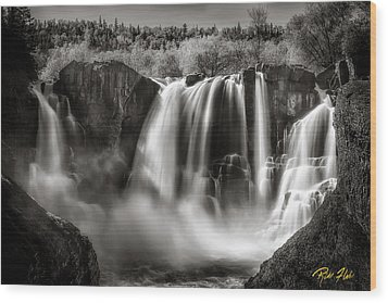 Late Afternoon At The High Falls Wood Print by Rikk Flohr