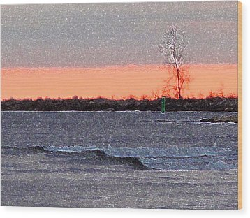 Late Afternoon By The Lake 2 Wood Print by Lyle Crump