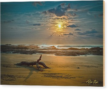 Wood Print featuring the photograph Late Afternoon Costa Rican Beach Scene by Rikk Flohr