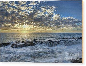 Late Afternoon In Laguna Beach Wood Print by Eddie Yerkish