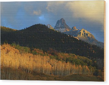 Wood Print featuring the photograph Late Afternoon Light On The San Juans by Jetson Nguyen