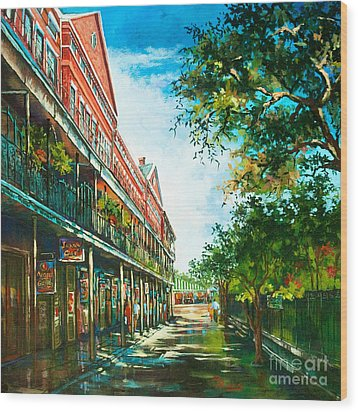 Late Afternoon On The Square Wood Print by Dianne Parks