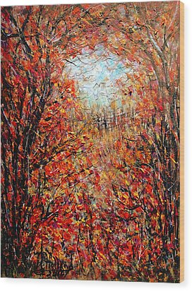 Late Autumn Wood Print by Natalie Holland