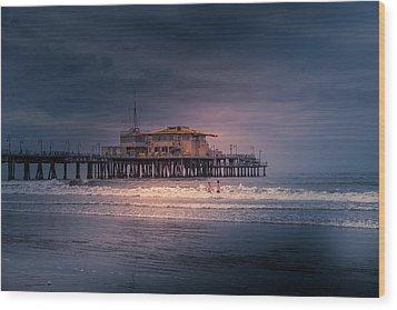 Late Evening Swim Wood Print
