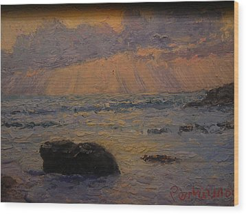 Late Light Knights Point Wood Print by Terry Perham