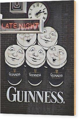 Late Night Guinness Limerick Ireland Wood Print