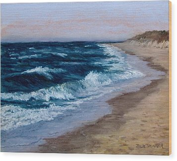 Late Spring At Cold Storage Beach Wood Print by Jack Skinner
