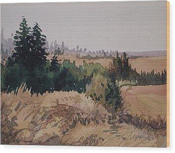 Late Summer Fields Cheney Wa Wood Print