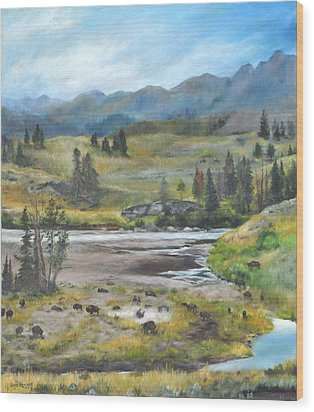 Late Summer In Yellowstone Wood Print
