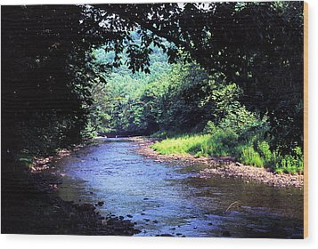 Late Summer On Williams River Wood Print by Thomas R Fletcher