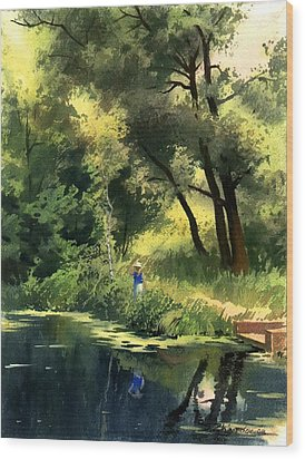 Late Summer Wood Print by Sergey Zhiboedov