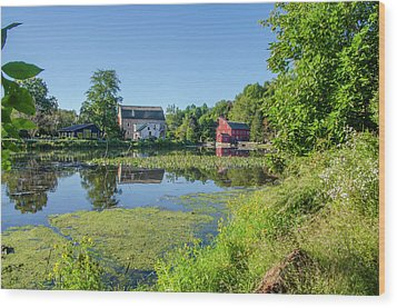 Late Summer - The Red Mill  On The Raritan River - Clinton New J Wood Print by Bill Cannon