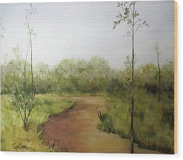 Late Summer Walk Wood Print by Roseann Gilmore