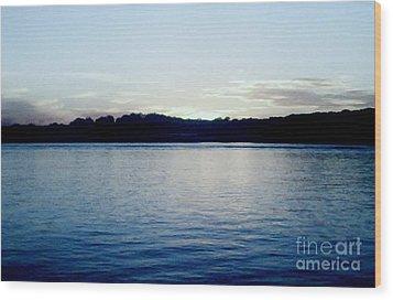 Late Sundown Wood Print by Marsha Heiken