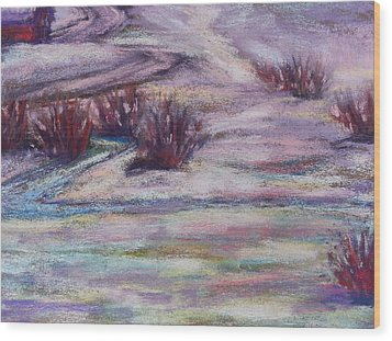 Late Winter Light Wood Print by Becky Chappell