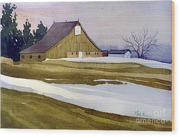 Late Winter Melt Wood Print by Donald Maier
