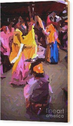 Lathmaar Holi Of Barsana-6 Wood Print