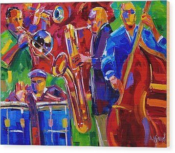 Latin Music Wood Print by Debra Hurd