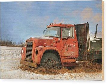 Wood Print featuring the photograph Latsha Lumber Truck by Lori Deiter