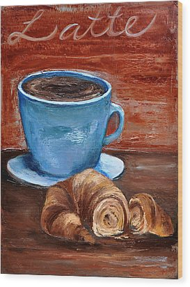 Latte Wood Print by Lindsay Frost
