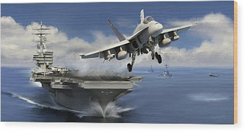 Launch Wood Print by Dale Jackson