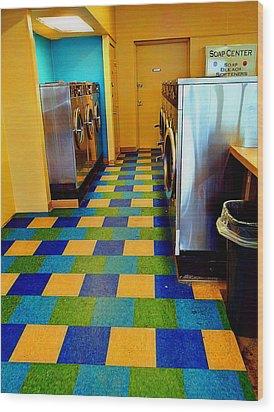 Laundry Colors Wood Print