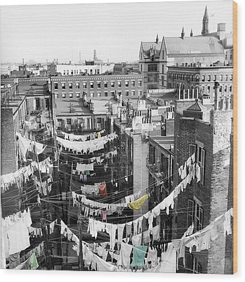 Laundry Day Wood Print by Andrew Fare
