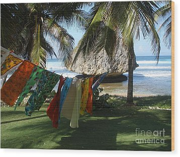 Laundry Day In Barbados Wood Print