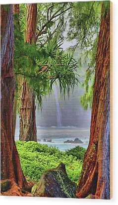 Wood Print featuring the photograph Laupahoehoe Hawaii by DJ Florek