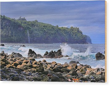Wood Print featuring the photograph Laupahoehoe Point by DJ Florek